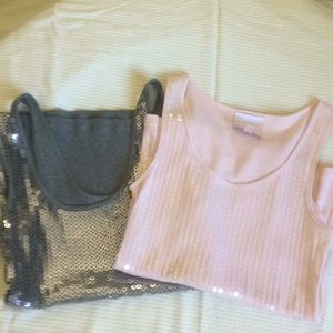 Sequin tank tops